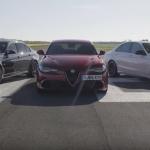 Kurš ātrāks – Alfa Romeo Giulia, BMW M3 vai Mercedes AMG C63? Neviens! Vienkārši mērīšanās ar…