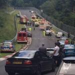 Smagākā avārija Nirburgringas trasē pēdējo 10 gadu laikā. Četri smagi ievainoti.