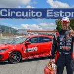 Honda Civic Type R ar Tiagu Monteiru pie stūres uzstāda jaunu apļa rekordu Eštorilas trasē Portugālē