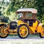 Pavasara saules   dzeltenais 1910. gada Pullman O Roadster automobilis!