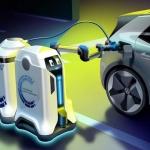 Volkswagen elektriskos automobiļus uzlādēšot gudrie roboti – atbrauks, uzlādēs un aizbrauks!