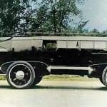 Vēl viens interesantas formas braucamrīks – raķete! 1929. gada Rocket Car!