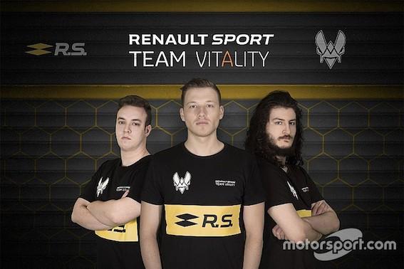 Renault plašiem soļiem iesoļo virtuālajā autosportā! RENAULT SPORT TEAM VITALITY