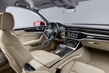 Ženēvas auto izstādē pasauli ierauga jaunās paaudzes Audi A6 sedans