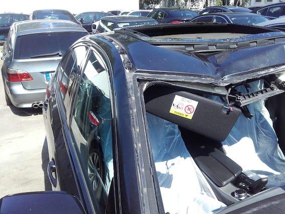 Sadursmē ar alni pamatīgi sadragāts  5. sērijas BMW. Apdrošināšanas atlīdzība - 52 000 eiro!
