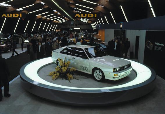 Leģendārā Audi quattro pilnpiedziņas sistēma šogad svin četrdesmito gadadienu