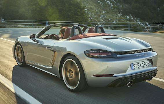 Četri litri, 100 km/h vien 4 sekundēs un tikai 1250 eksemplāri - Porsche Boxster 25 years